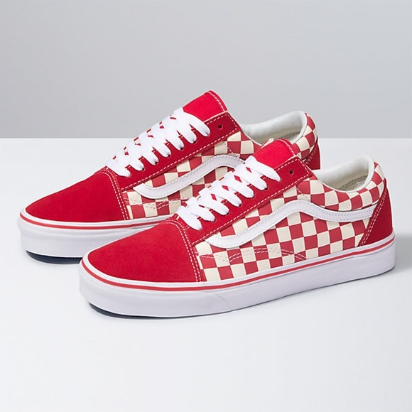 Vans Shoes | Red And White Checkered